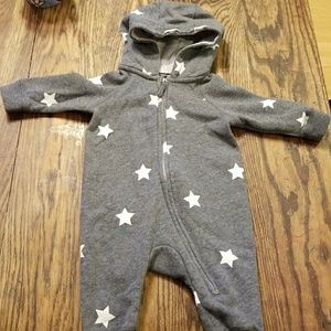 H&M Gray Star one piece with hood